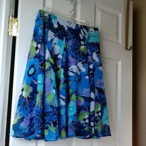 Sunny Leigh Free Flowing Sheer Lined Skirt Size 4